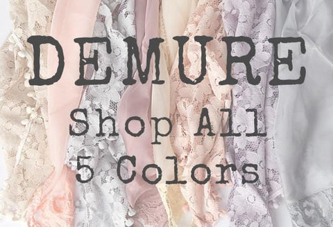 Demure Vintage Lace Silk Artisan Newborn Layer - 5 Color Options