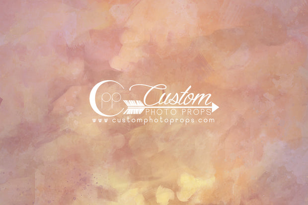 warm, peach and pink with yellow photography backdrop by custom photo props