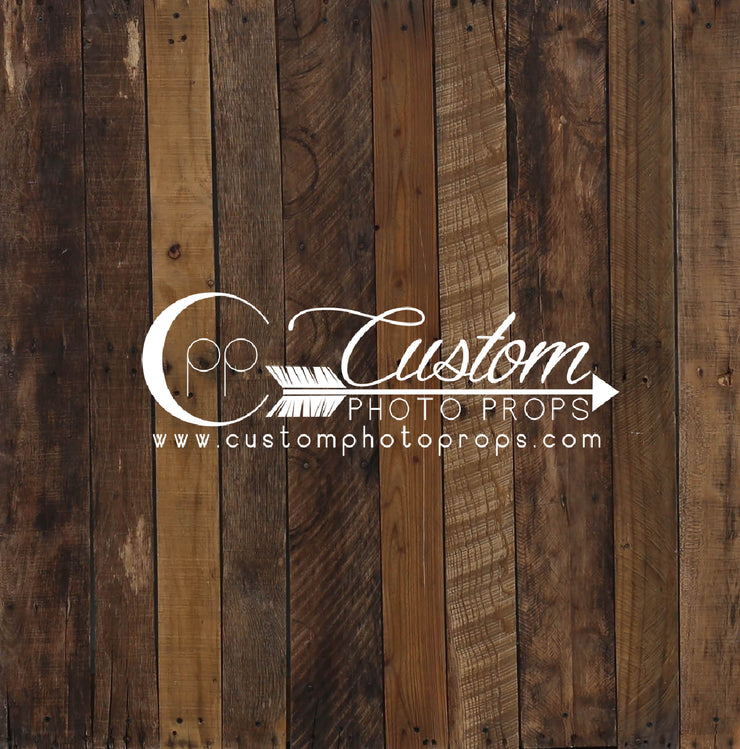 warm stain plank flooring for photography backdrop by Custom Photo Props
