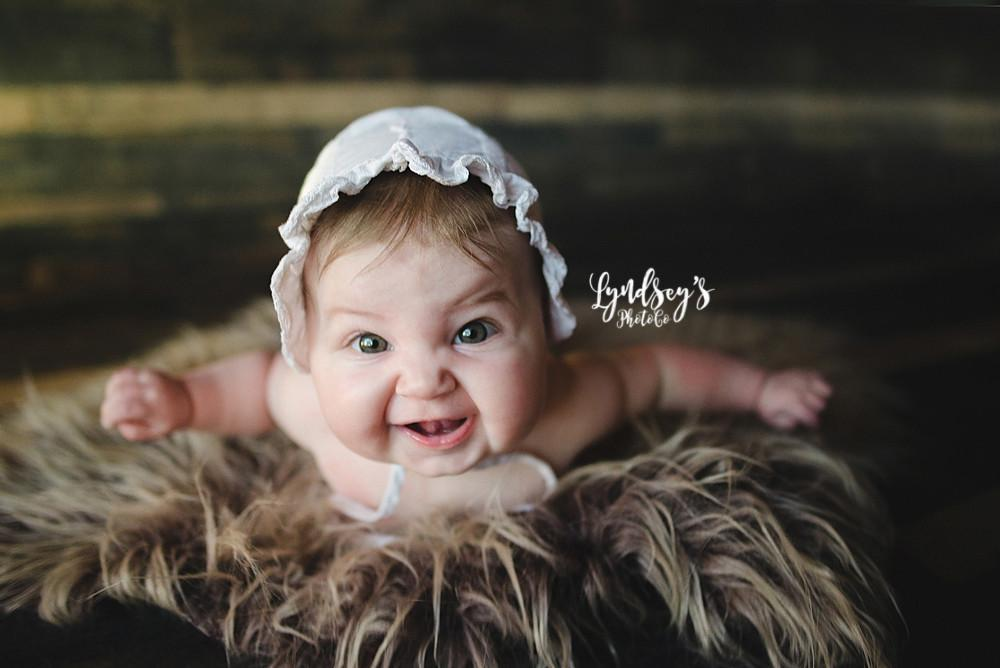 Newborn brown faux sheepskin photo prop