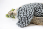 Chunky Knit Newborn Blanket Photography Prop