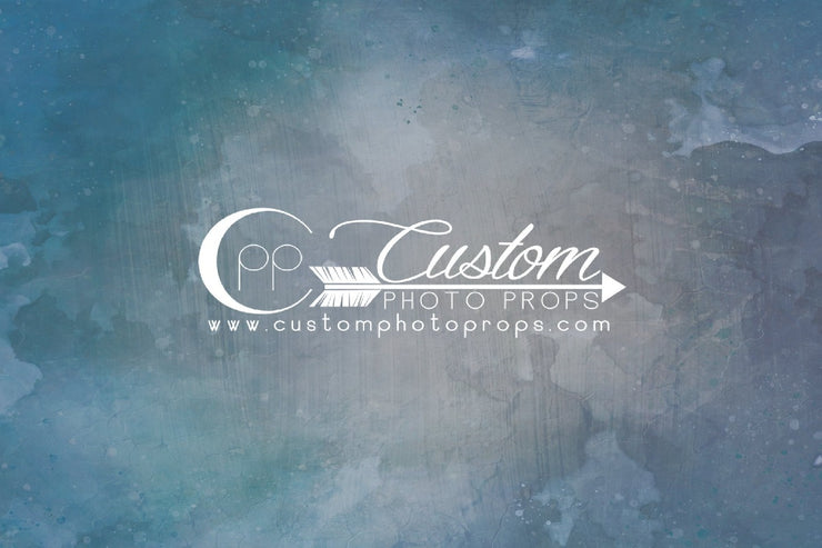 blue, gray, green watercolor photography backdrop