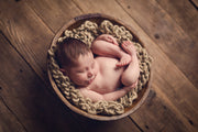 newborn baby boy or girl rustic antique posing bowl photo prop