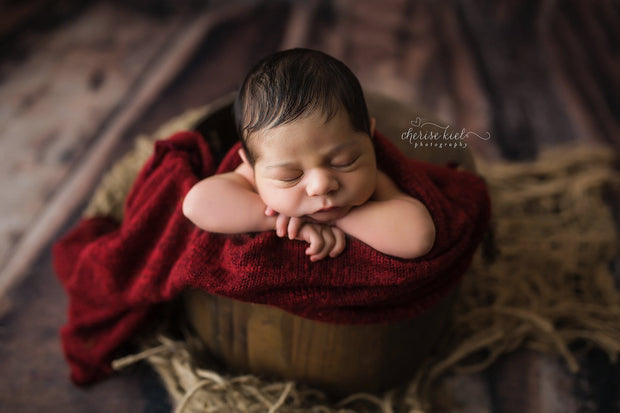large woven jute mat in small piece for newborn texture in newborn photography photos. lay under basket for textural element