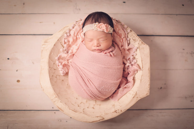 Pink Newborn Girl Prop Set | Ballerina Slipper