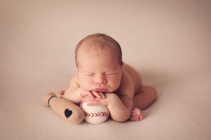baseball and felted ball for newborn baby boy pictures