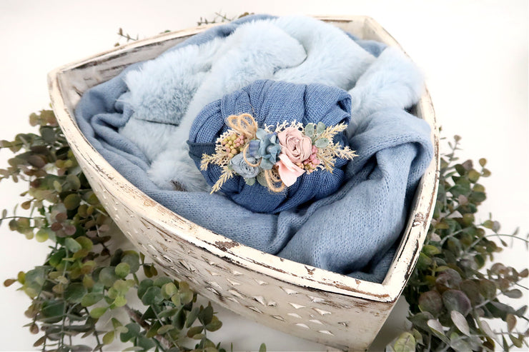 newborn baby boy blue matching photo prop set for new moms gift