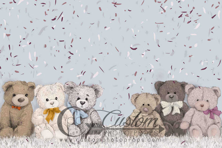 large teddy bear backdrop for kids photos