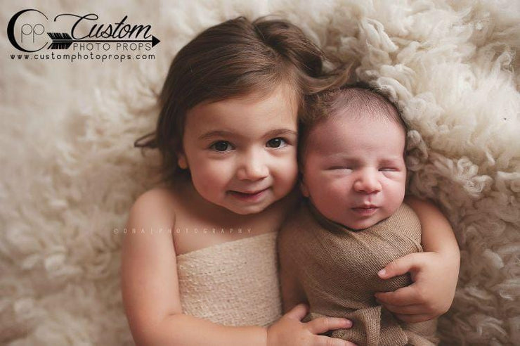baby wrap tan photo prop
