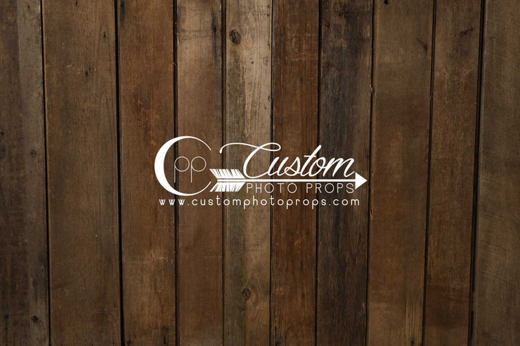 warm, dark stained, hardwood flooring backdrop for photo studio by cpp drops. vertical planks