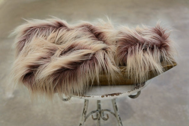 Cobbler Ombre Vegan Faux Fur Photo Prop for Newborns