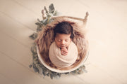 gorgeous burgundy deep two tone fur fabric with baby girl by custom photo props