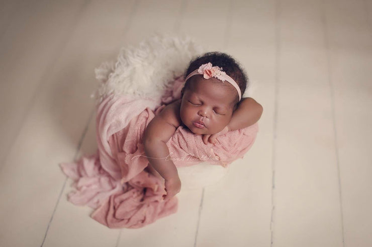 pink and white newborn photo props