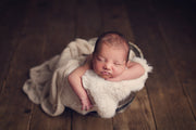 cream faux fur rabbit skin with newborn baby boy photos by Custom Photo Props