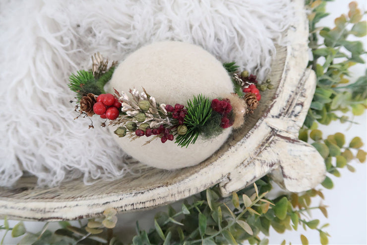 christmas berry newborn or toddler halo photography prop