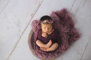 newborn photo shoot by custom photo props. Ships from Buffalo  New York purple headband