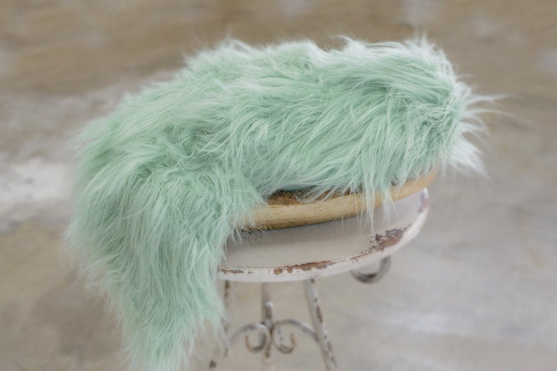 Succulent Pastel Green Newborn Faux Flokati Fur - 3 Size Options