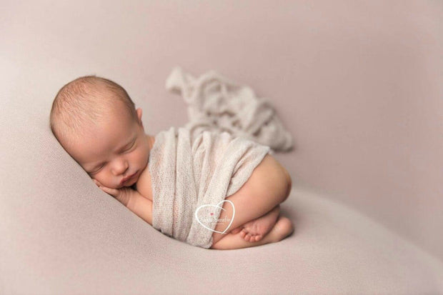 white baby swaddle photo prop