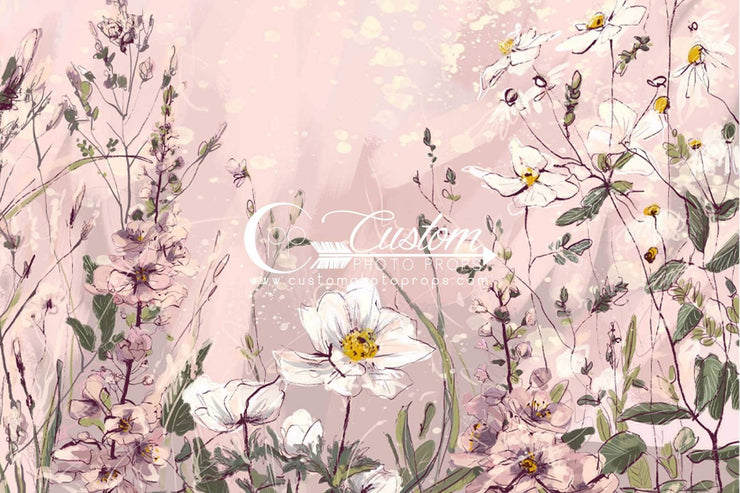 light pink flower petal backdrop for newborn and baby photos