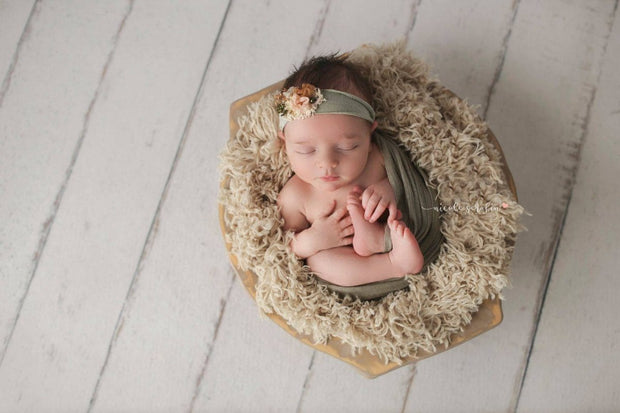 Honey Kisses Soft Tan Faux Fur Newborn Photography Props - 3 Size Options
