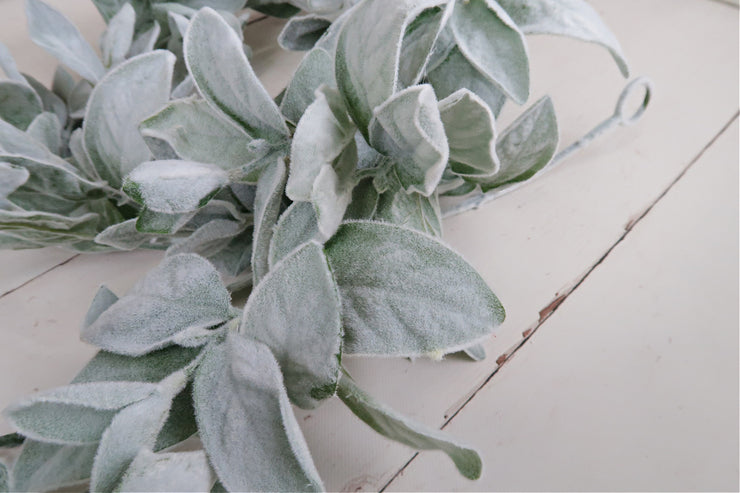 fuzzy, lamb's ear garland photography prop accent for portrait photographers