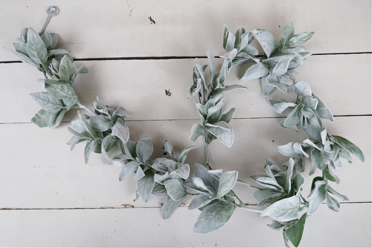 6 ft long fuzzy, lamb's ear garland photography prop accent for portrait photographers