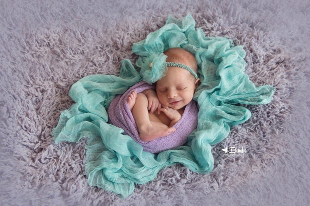 Lilac Frost Newborn Baby Faux Fur Photo Prop
