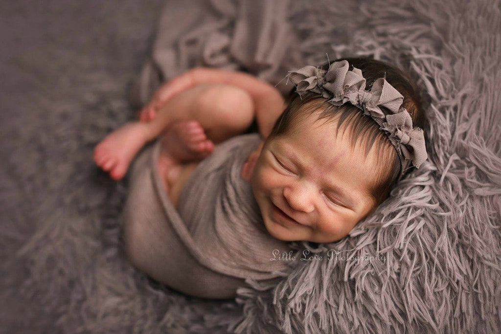 Limestone Gray/Brown  Faux Fur Newborn Photography Props - 3 Size Options