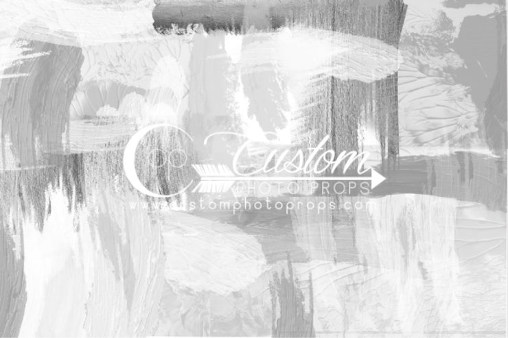 gray, cool white and cream tonal abstract backdrop for family photos