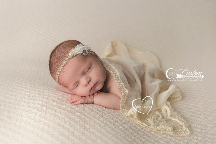 lace photo props newborn photography Demure Vintage Lace Silk Artisan Newborn Photography Layer