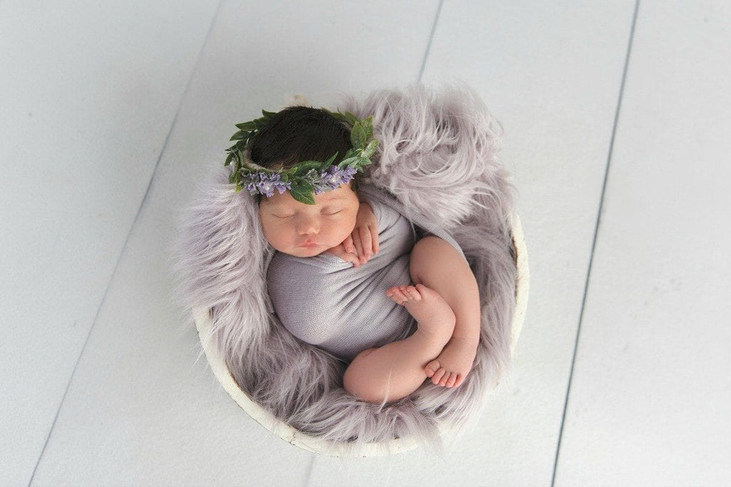 basket stuffer Flokati Newborn Baby Faux Fur Photo Prop