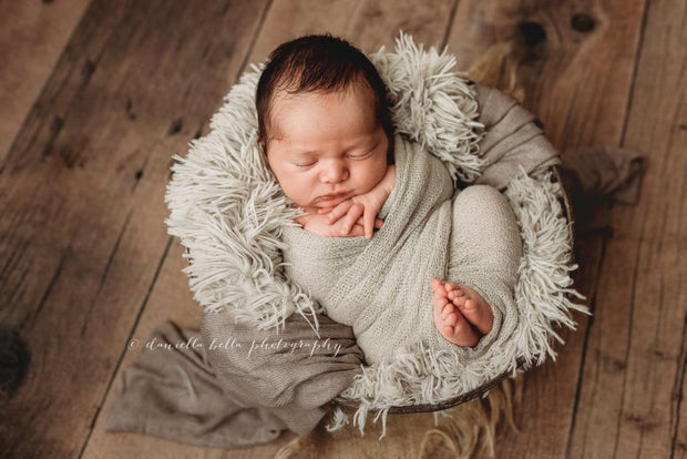neutral gray brown dusty cool faux fur fabric photography prop for baby boys