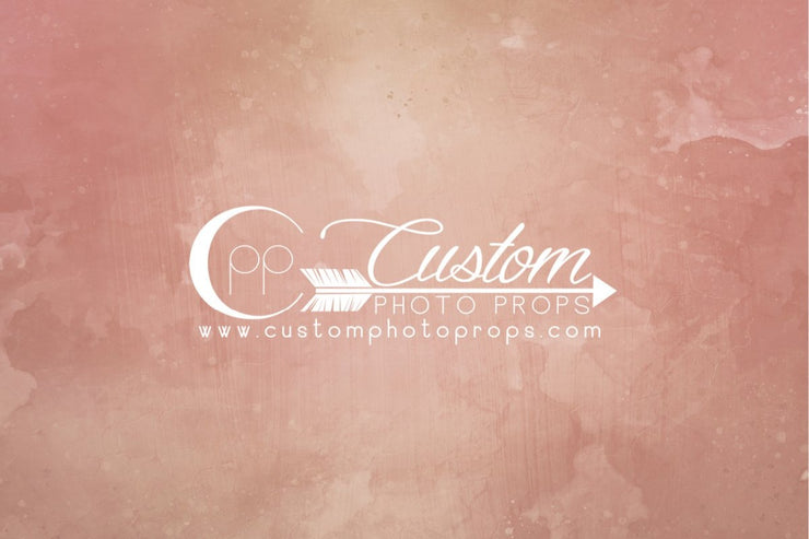 peach and pink backdrop photo prop by custom photo props