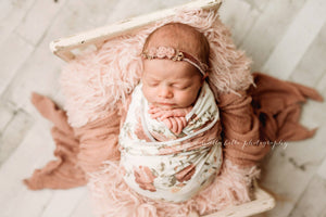 soft light peach orange faux fur photo shoot newborn photography prop by Custom Photo Props