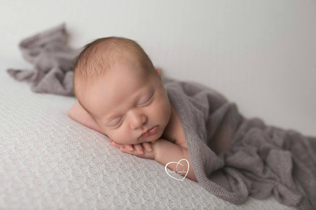 gray photo prop newborn photography