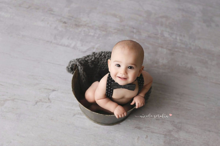 rustic galvanized steel pail for newborn or sitter photos