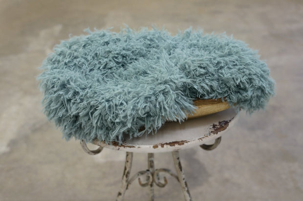 blue faux fur photo prop by custom photo props. Ships from Buffalo  New York