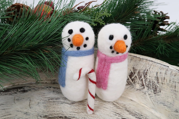 Felted Snow People Set