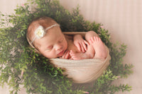 Neutral Newborn Baby Swaddling Photo Prop
