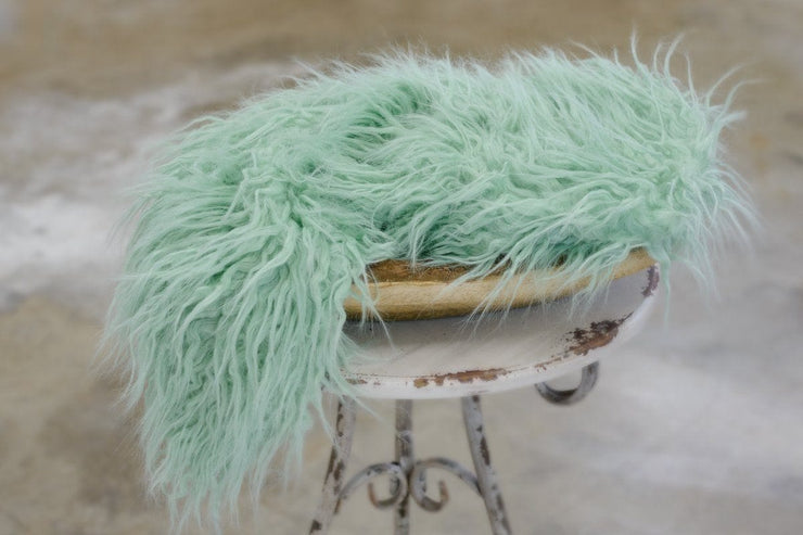 Sprout Soft Green Curl Flokati Faux Fur Photography Prop by custom photo props. Ships from New York