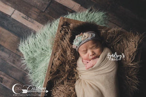 Sprout Soft Green Curl Flokati Faux Fur Photography Prop
