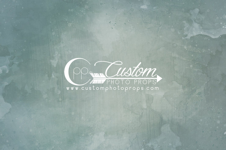 sage green watercolor backdrop. comes in vinyl, paper, fabric or mat flooring