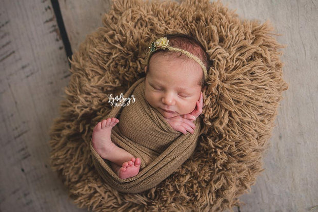 Newborn on Faux Fur Photo Prop