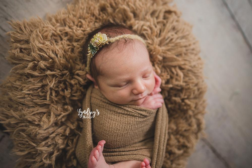 Maple Tan Newborn Baby Faux Fur Photo Prop
