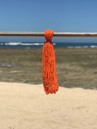 Hand Spun High Atlas Wool, 2-ply, Orange 1222