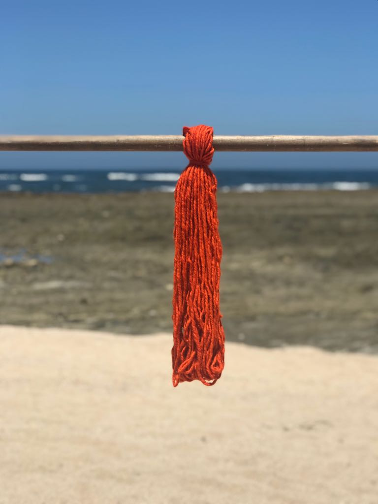 Hand Spun High Atlas Wool, 2-ply, Orange 1223