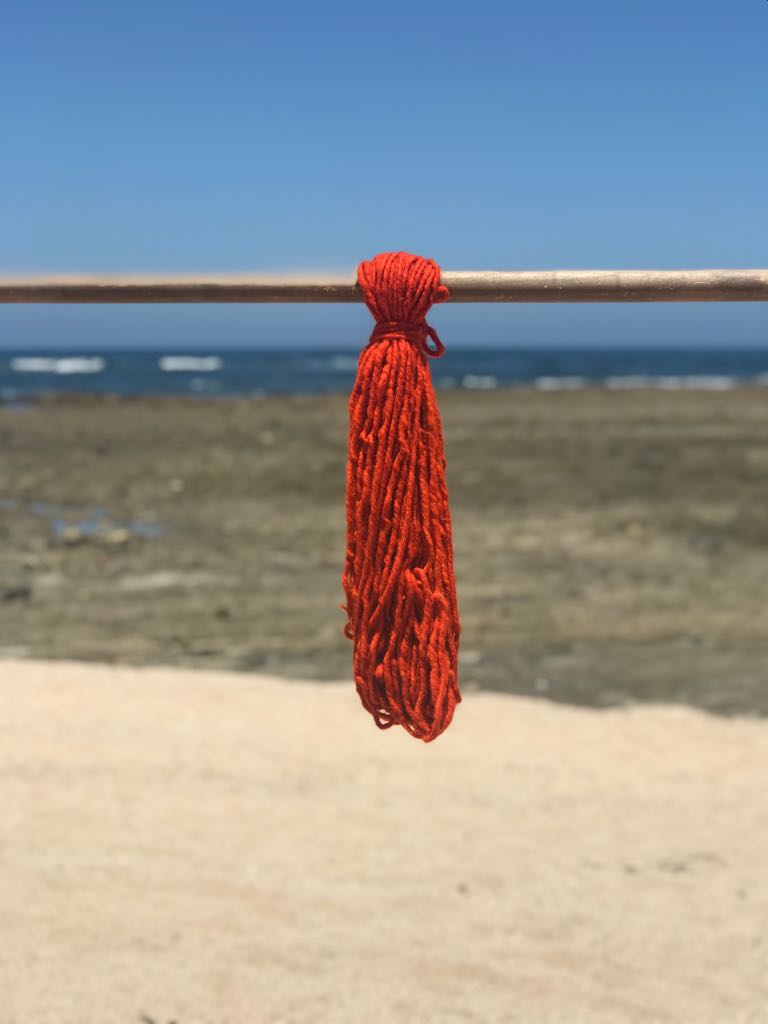 Hand Spun High Atlas Wool, 2-ply, Orange 1224