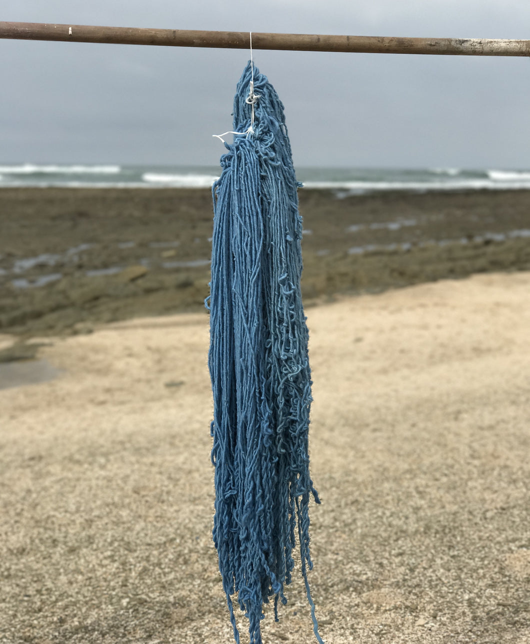 Hand Spun Middle Atlas Wool, Singles, Blue 61