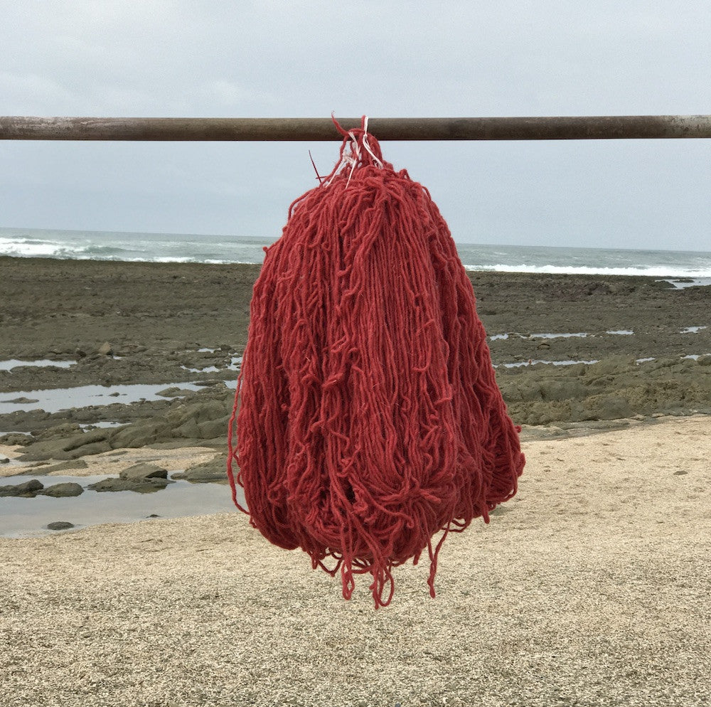 Hand Spun Middle Atlas Wool, Singles, Red 42