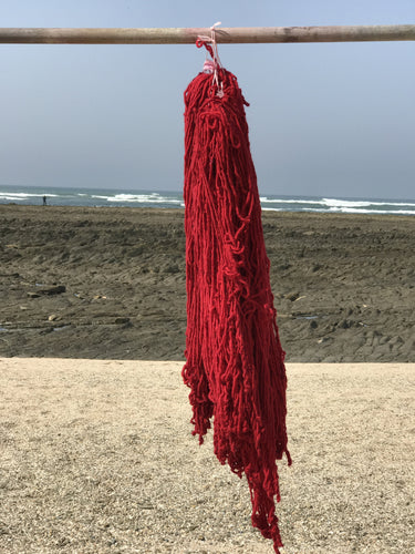 Hand Spun Middle Atlas Wool, Singles, Red 11